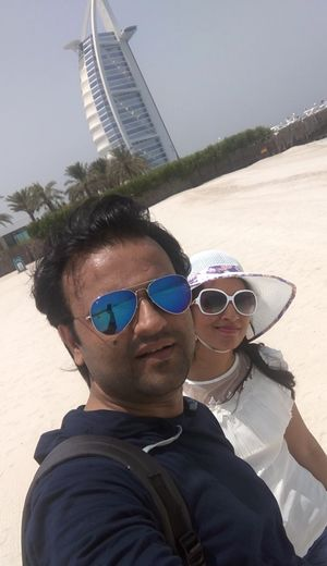 An Eternal beauty at Sands of Dubai! #SelfieWithAView #TripotoCommunity