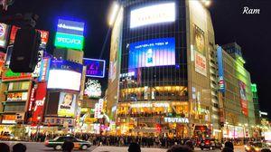Bustling Vibrant Shibuya Crossing...Tokyo, Jaoan