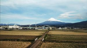 Japan's Mt. Fuji is an active volcano about 100 kilometers southwest of Tokyo.