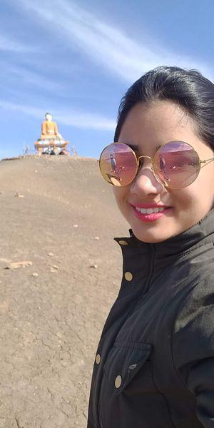 #SelfieWithAView #TripotoCommunity Langza, sitting Buddha idol Serene Spiti Scenes