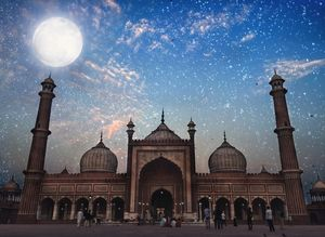 My own version of Jama Masjid under the starry sky.