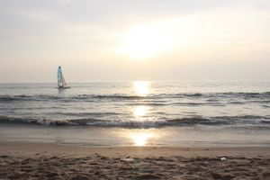 Sunset at Cherai beach, Cochin