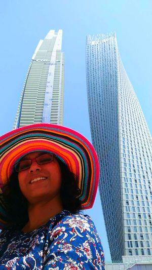 When a skyscraper becomes your tophat #SoloTravel #SelfieWithAView #TripotoCommunity