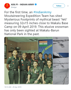 Is There a Mysterious Snow Man in the Himalayas? Indian Army Says Yes!