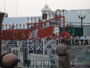 Wagah Border - between India and Pakistan!