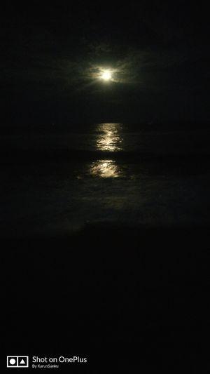 sun rise, sun set and moon rise at Marina beach