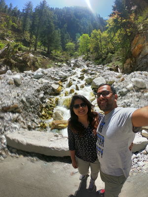 Pristine hills of himalayas on our trip to Tosh, Kasol #SelfieWithAView #TripotoCommunity