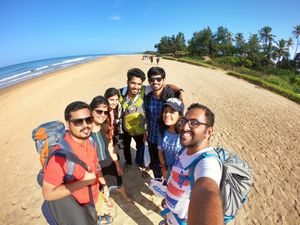 The Gang stepped on the sands of Gokarna #SelfieWithAView #TripotoCommunity