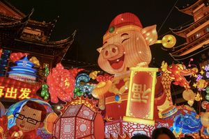 The end of Chinese New Year and the welcome for piggy