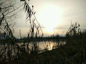 Sunset views of dal lake kashmir on my bike