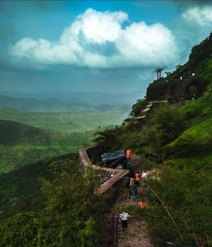 Monsoon trek to Sinhgad fort