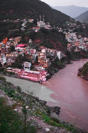 "DEV PRAYAG! The great confluence of two great rivers ""Alaknanda and Bhagirathi"""