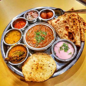 Delicious Special Kholapuri Veg Thali #foodtrail #iwillgoanywhereforfood