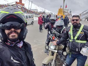 Day 8 Groups ride to Leh-Ladakh ( Pangong Tso lake to Karu) -