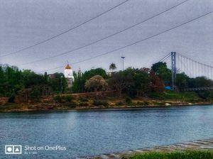 Hanging bridge to Dhableswar Temple, Cuttack Odisha