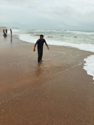 Life is awesome when we spend time in beach when ut rains.