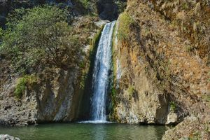 Jharipani fall(Mussoorie) sourrounded with dense and dark forest