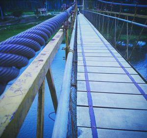 Hanging bridge in Konanur, Hassan - Karnataka, India