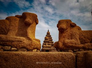 "Pancha Rathas ""Five chariot"" This place is famous for 8th century sea shore temple and Five Rathas."