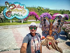 At Dubai Butterfly Garden! #SelfieWithAView #TripotoCommunity