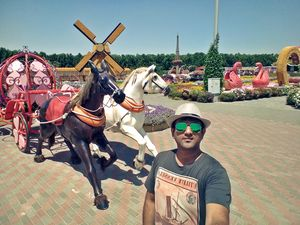 Horsing around in Miracle Garden #SelfieWithAView #TripotoCommunity