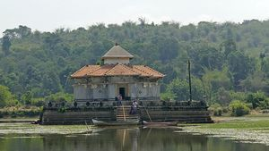 Serene Divinity - Varanga Jain Temple in middle of a Lake
