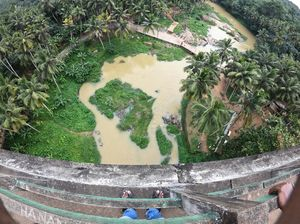 View From the Top of One of the Highest and Longest Aqueduct in South Asia. Thottipaalam, Nagercoil