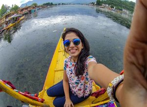 There is no better way to admire the Dal Lake than on a Shikara. #TripotoCommunity #SelfieWithAView