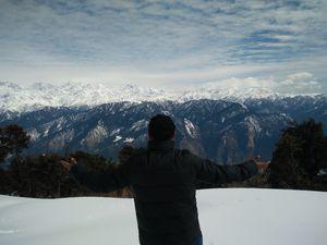 First, ever solo hike to serene Himalayan Range(Dayara Bugyal)
