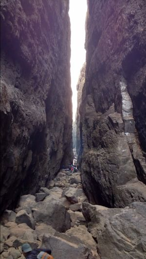 Thea grand canyon of India Sandhan Valley 8 km long hair pin like narrow canyon Maharashtra,India