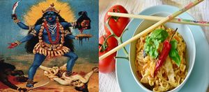 Who Knew Goddess Kali Liked Noodles Too!