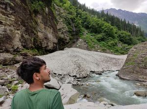 A hike to a tiny glacier and a mighty waterfall - kho