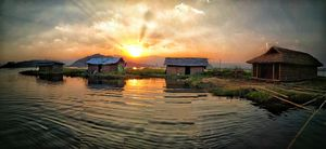 That golden hour at Loktak Lake Manipur
