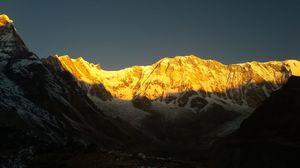 """Annapurna Base Camp. """"Sunrise at Annapurna I"""""""