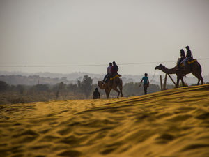 Camel Ride in Osian Desert, Rajasthan, IN | 2018-Dec