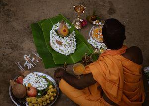 The story of karma walking past dharma