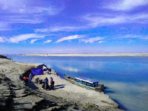 River 'Brahmaputra' - here is the doorway to visit World's largest riverine island, Majuli, Assam.