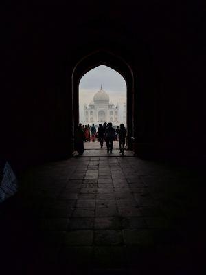Taj Mahal on a cloudy day