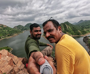 Feels like, on top of the world when your father is around! #SelfieWithAView #TripotoCommunity
