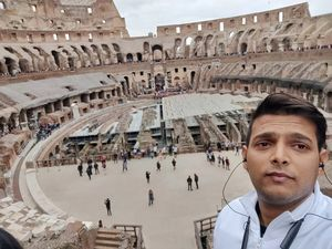 Selfie inside Colosseum, Rome build in 70-80 AD. #SelfieWithAView #TripotoCommunity