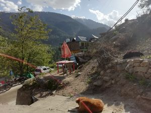 A village in the mountains..always protected by 'Aum(Om)'