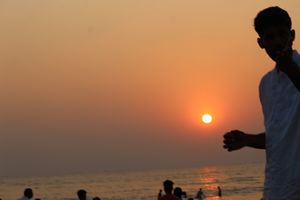 Sunset at miramar beach. Best sunset point in The Goa-panjii