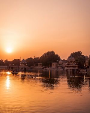 Beautiful Sunset at Gadisar Lake, Jaisalmer
