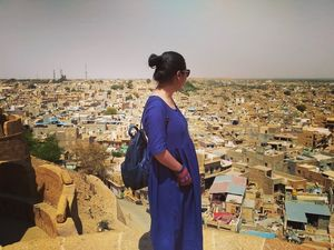 On road travel to Jaisalmer.