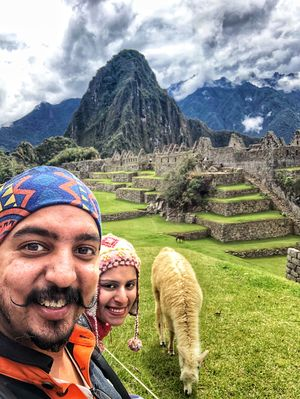 No Drama Llama with a beautiful view of the Magical Machu Picchu #SelfieWithAView #TripotoCommunity