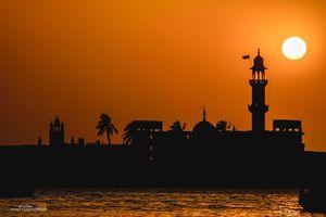 Silhouette of Haji Ali Dargah
