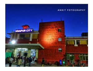 Udaipur city .... Railway station