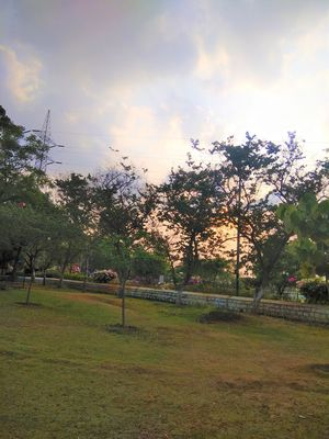Spend an Evening to witness the beautiful sunset in Botanical Garden of Hyderabad...
