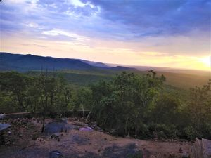 The breathtaking sunset view from the highest point of Srisailam Hills...