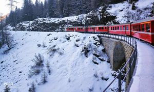 St. Moritz (Swiss) on the most scenic Bernina Express